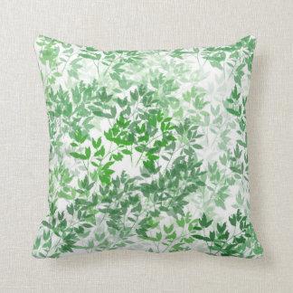 O verde deixa o travesseiro decorativo branco almofada