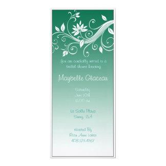 O verde desvanece-se chá de panela da flor convites personalizado