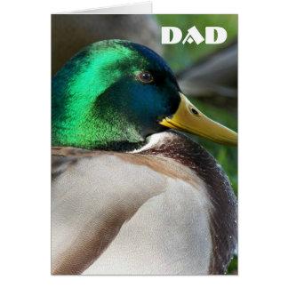 O verde dirigiu o dia dos pais da foto do pato do cartão comemorativo