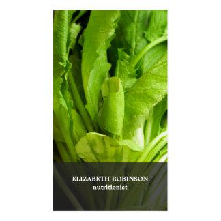 O verde elegante moderno deixa o nutricionista cartão de visita