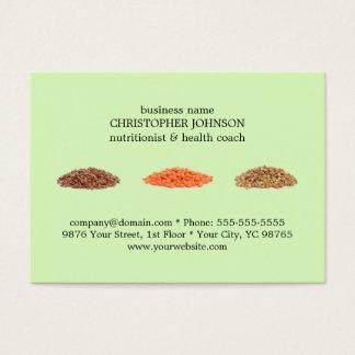 O verde elegante moderno semeia o nutricionista da cartão de visitas
