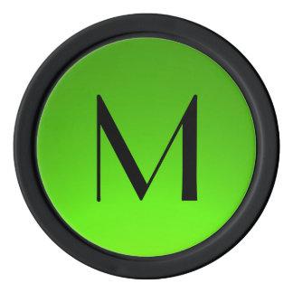 O verde preto desvanece-se microplaquetas de ficha de poquer