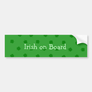 O verde quatro folheou sorte do irlandês do trevo adesivos