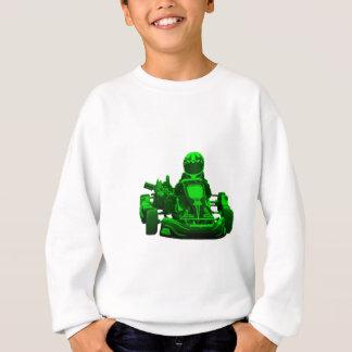 O verde vai piloto de Kart Camisetas