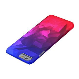 O vermelho azul desvanece-se poli capa barely there para iPhone 6