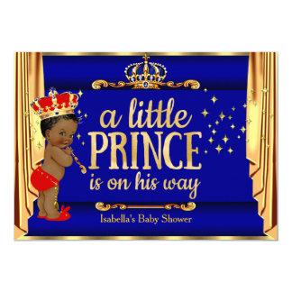 O vermelho de azuis marinhos drapeja o príncipe convite 12.7 x 17.78cm