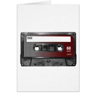 O vermelho desvanece-se gaveta da etiqueta de Houn Cartão Comemorativo