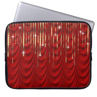O vermelho do rubi drapeja a faísca do luxo do capas de computadores notebooks