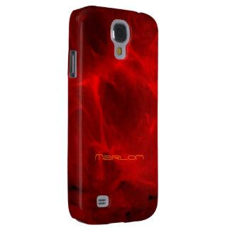 O vermelho veou o cobrir da galáxia s4 de Samsung