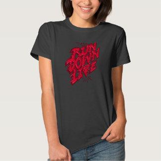 O vermelho vivo da degradação tshirt