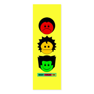 O vertical temperamental do trio do sinal de cartão de visita skinny