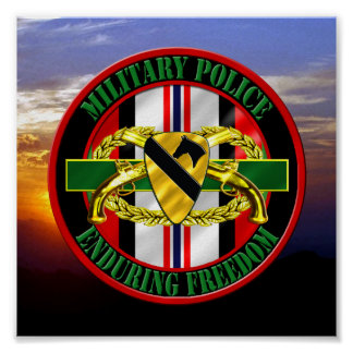 ø VETERANO da polícia militar OEF da divisão da ca Posteres