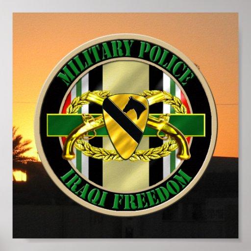ø VETERANO da polícia militar OIF da divisão da ca Impressão