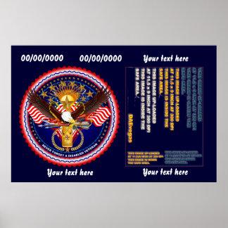 O veterano personaliza edita muda a cor do fundo posteres