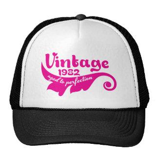 O vintage 1982 envelheceu à perfeição 35 anos de boné