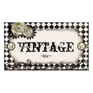 O vintage clássico inspirou cartões de visitas