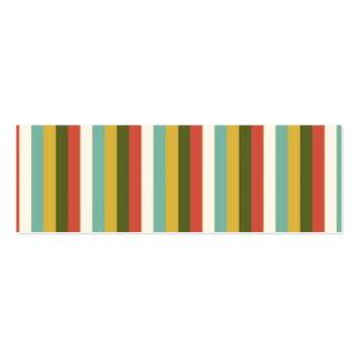 O vintage colorido listra o teste padrão modelo de cartões de visita