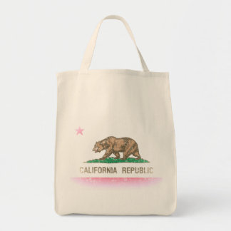 O vintage desvanece-se bandeira de Califórnia Sacola Tote De Mercado
