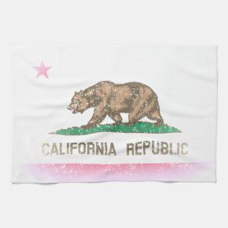 O vintage desvanece-se bandeira de Califórnia Panos De Prato