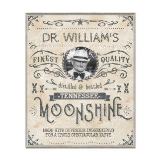 O vintage engraçado Moonshine o costume da Impressão Em Tela
