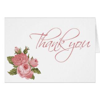 O vintage floresce cartões de agradecimentos