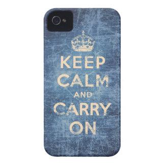 O vintage mantem a calma e continua capa para iPhone 4 Case-Mate