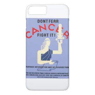 O vintage não teme o poster de WPA do cancer Capa iPhone 8 Plus/7 Plus