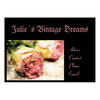 O vintage sonha o cartão de visita