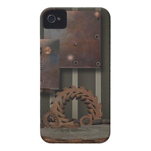 O vintage SteamPunk alinha Caso-Blackberry-Corajos Capas iPhone 4 Case-Mate