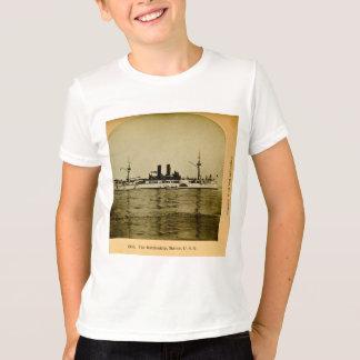 O vintage Stereoview de Maine da navio de guerra Tshirts