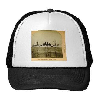 O vintage Stereoview de Maine E.U. da navio de Boné