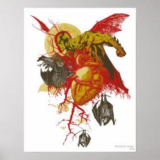 O vintage todo de Batman Hallows a véspera Poster