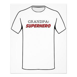 O vovô é um avô do super-herói flyer 11.43 x 14.22cm