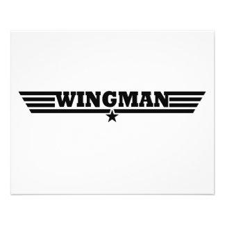 O Wingman voa o logotipo Flyer 11.43 X 14.22cm