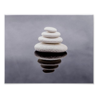 O zen apedreja belas artes bonitas poster
