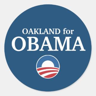 OAKLAND para o costume de Obama sua cidade Adesivo