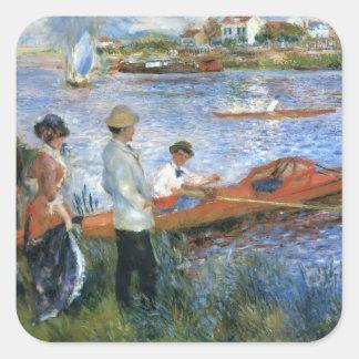 Oarsmen de Pierre-Auguste Renoir- em Chatou Adesivo Quadrado