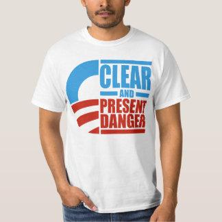 Obama - camisa do perigo claro e atual tshirts