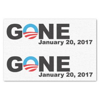 Obama ido, 2017 papel de seda