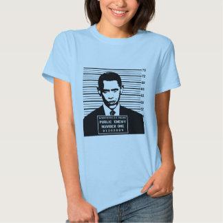 Obama - inimigo público número um tshirt
