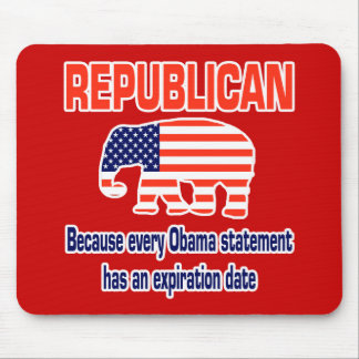 Obama republicano engraçado mouse pad