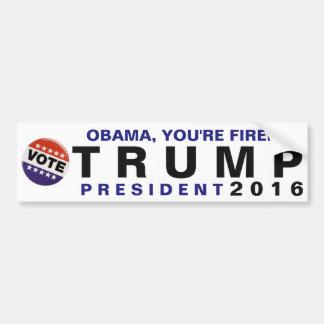 Obama, você é ateado fogo! Pára-choque político do Adesivo Para Carro