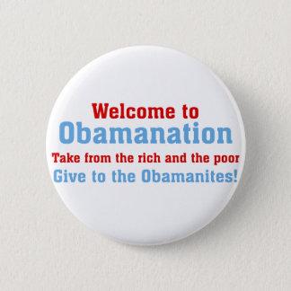 Obamanation: Tomada do rico E dos pobres Bóton Redondo 5.08cm