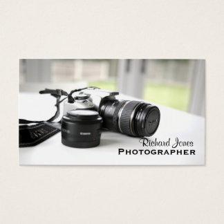 Objectiva do fotógrafo de Photagraphy Cartão De Visitas