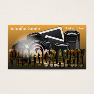 Objectiva profissional do fotógrafo - ouro cartão de visitas