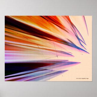 Objetos abstratos coloridos contra o branco impressão