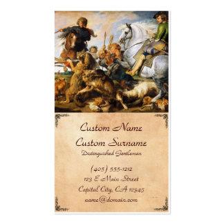 Obra-prima de Peter Paul Rubens da caça do lobo e Cartão De Visita
