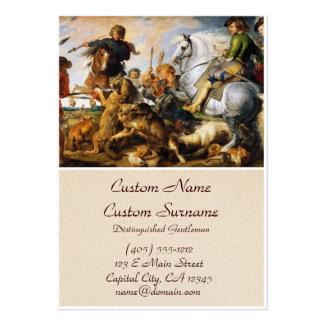 Obra-prima de Peter Paul Rubens da caça do lobo e Cartão De Visita Grande