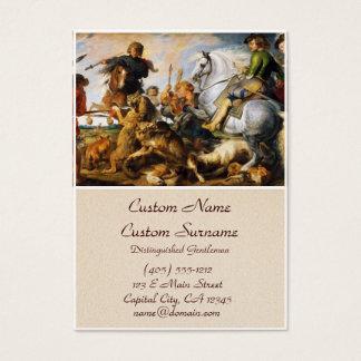 Obra-prima de Peter Paul Rubens da caça do lobo e Cartão De Visitas