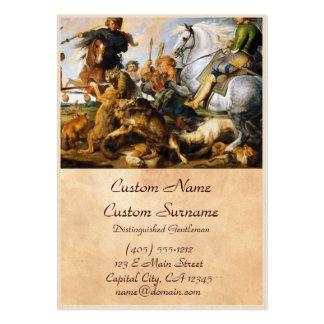 Obra-prima de Peter Paul Rubens da caça do lobo e  Modelos Cartões De Visitas